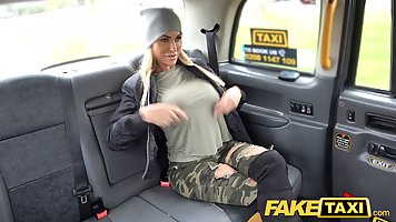 Fake taxi driver and a mature blonde are having a good fuck ...