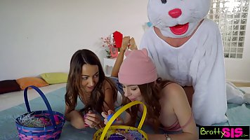 Brunette with dirty ideas on her mind is having sex with her...
