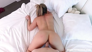Busty milf and a horny young guy are having a perfect fuck t...