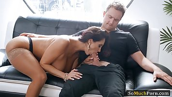 Busty brunette MILF, Ava Addams got naked and had sex with a...