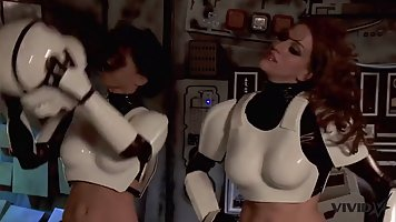 Big titted woman is getting banged in the space ship, by a h...