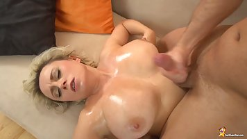 Blonde milf, Sindy Huga is having rough sex with her ex and ...