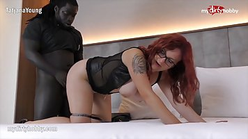 Busty red haired woman and her slutty, blonde friend are hav...