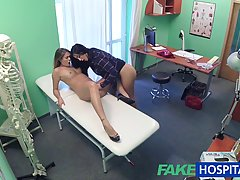 Naughty nurse and her colleague from work are having a three...