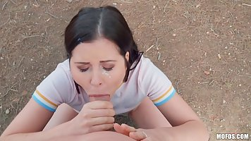 Dark haired chick, Cassie Fire got loads of money from a hor...