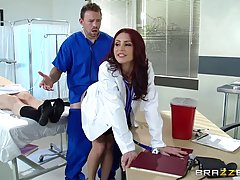 Red haired woman was doing very naughty things in the hospit...