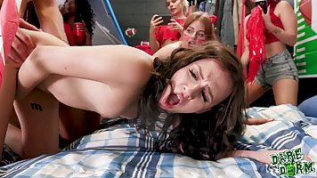 Naughty college girls are having a great time while getting ...