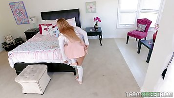 Moka Mora is a hot blonde bitch who needs two guys to keep h...