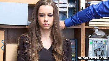 Brunette teen babe got her mouth stuffed forcefully by her w...