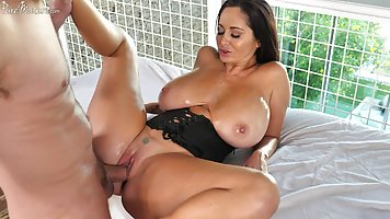 Nasty milf with massive breasts is ready to get her partner'...