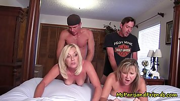 Aroused Ms Paris and her naughty friends went to her bedroom...