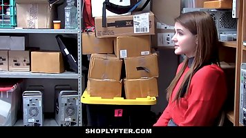 Naughty blonde babe was not good at shoplifting but she was ...