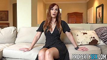 Romantic, red haired lady, Dani Jensen got fucked from the b...