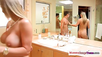 Kinky milf is having threesomes with her step- daughter and ...