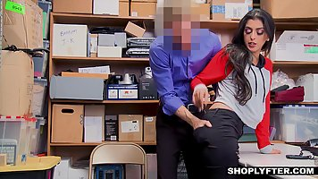 Astonishing Latin brunette is getting banged in the storage ...
