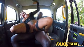 Big titted milf got into the taxi asking for a good, interra...