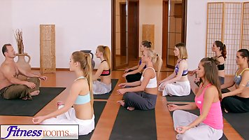 Once girls were done with their yoga class, some of them wan...