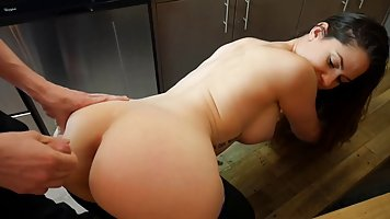 Ashley is having anal sex with a guy she is in love with for...