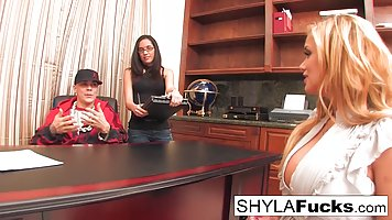 Shyla Stylez is doing everything she can think of while havi...