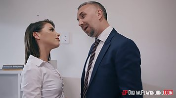 Adriana Chechik is working as a secretary who knows when to ...