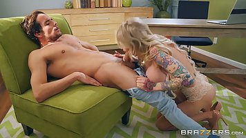 Danielle Derek is a big titted, tattooed blonde who likes to...
