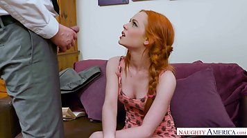 Red haired fuck doll, Ella Hughes got stuffed with a huge di...