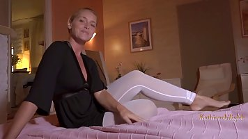 Classy blonde woman got blackmailed just because a kinky nei...