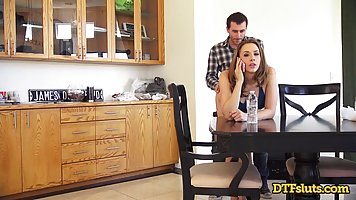 Chanel Preston got fucked from behind in the dinning room, u...