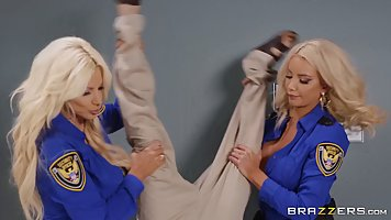 Gorgeous blondes are working as police officers and this tim...