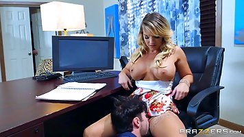 Cali Carter is working as a secretary and quite often she is...