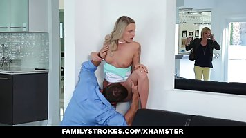 Petite blonde could not hold back from fucking her best frie...