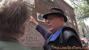 Sweet, Dutch prostitute is often having sex with elderly men...