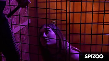 Caged babe gets extremely horny every time her girlfriend st...