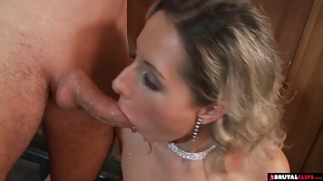 Busty blonde is getting assfucked in a local bar, since no o...