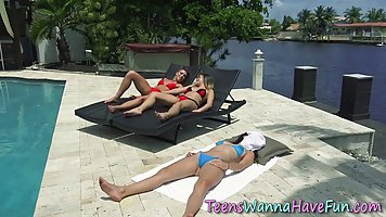 Passionate dykes are having a vacation together and often ha...