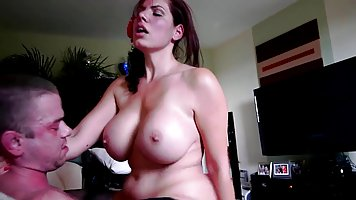 Mature German woman is sucking her neighbor's dick while...