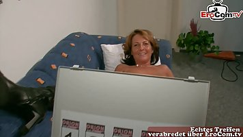 Horny, German mature is about to start masturbating in front...