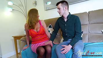 Big titted granny, Lily May was in the mood for casual sex w...