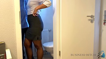 Married woman is getting fucked in the toilet, while having ...