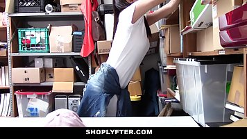 Naughty teen was caught shoplifting so she got fucked very h...
