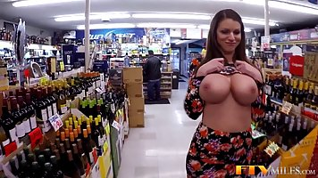 Big titted milf is toying her soaking wet pussy and enjoying...
