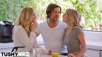 Two blondes decided to turn their best friend's sexual f...