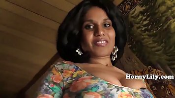 Indian milf is sucking her neighbor's dick while he...