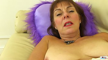 Georgie is a super horny granny who likes to masturbate in f...