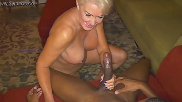 Seka is eagerly sucking her black lover's dick, to ...
