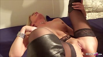 German mature got down and dirty with a younger guy who want...