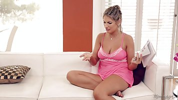 Perverted blonde lady and her husband's step mom are having ...