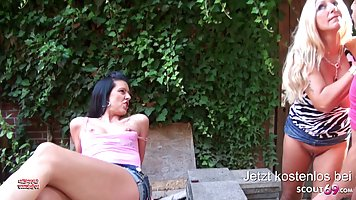 Bi Jenny and Texas Patti are having tons of fun with a rando...