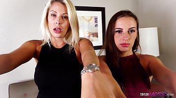 Блондинка и брюнетка - нежные лесбиянки, которые обожают сек...