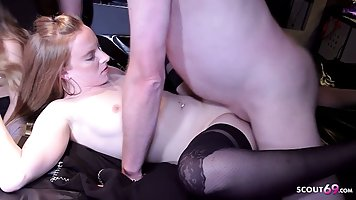 Two German babes, Penny Payne and Lisa are getting fucked by...